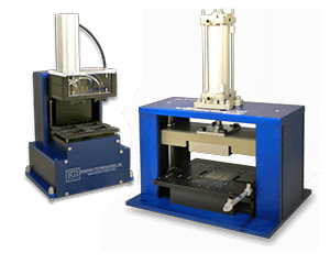 small and large pneumatic test presses