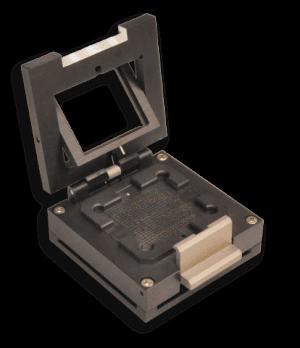 Gimballed lid for image sensor sockets