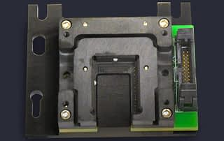 PCB module test socket with built in adapter and connector