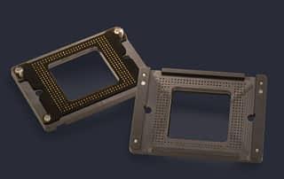 Low profile high speed pogo pin block