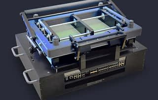 Large format PCB test fixture with board to board connector savers